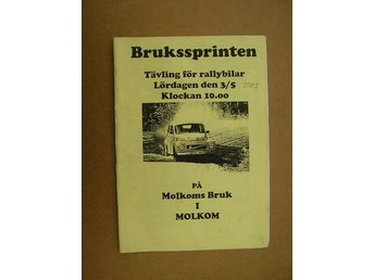 Rally Program Molkom Brukssprinten 3/5 2003
