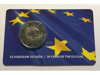 "Latvia, 2 Euro 2015 ""30 Years of the EU Flag"" in blister"