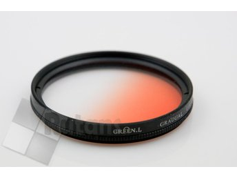 GND halvtonat filter 77 mm färg ORANGE universal kamerafilter JUL