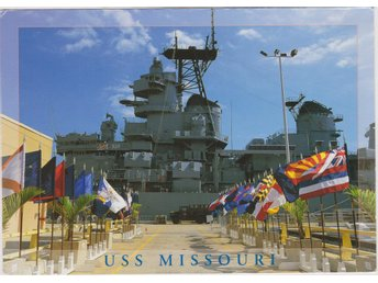 USS MISSOURI AT PEARL HARBOR HAWAII POSTCARD VKORT