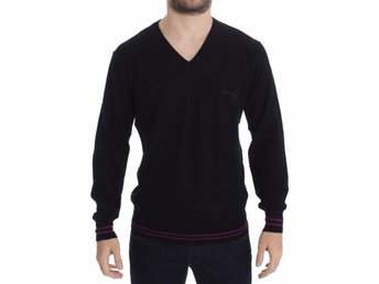 Versace - Black Wool V-neck Pullover Sweater