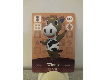 Animal Crossing Amiibo Welcome Amiibo card nr 046 Winnie