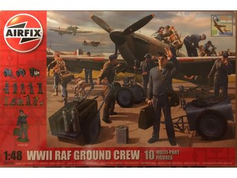 WWII RAF GROUND CREW (NO AIRCRAFT)      AIRFIX 1/48 Byggsats