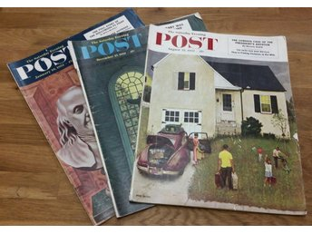 Retro 3 st The Saturday Evening Post från 1952
