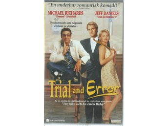 TRIAL AND ERROR- JEFF DANIELS   ( SVENSKT VHS FILM !!)