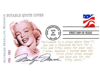 Marilyn Monroe Quotation FDC FIRST DAY COVER