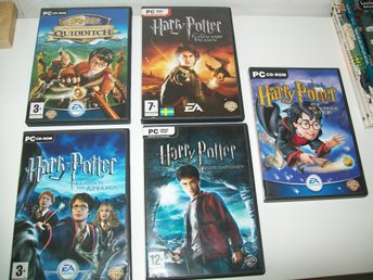 Harry Potter , 5 PC Spel , Halvblodsprinsen , Azkaban och Bägaren , vises sten