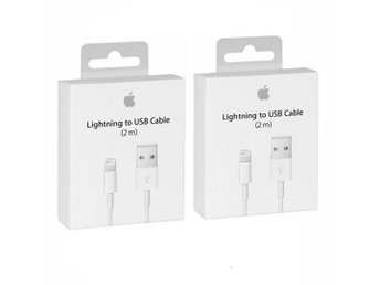 2st Lightning Kabel iPhone/iPad laddare 2 meter - Snabb frakt