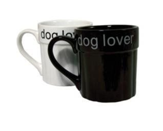 Dog Lover mugg - Vit