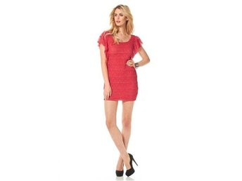 Ny Siena Studio coral color mini dress size 36