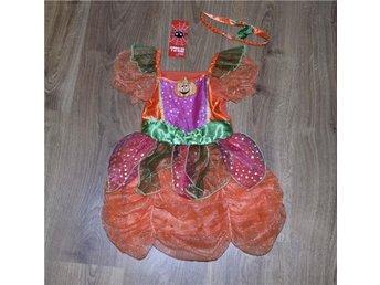 Ny! Söt Halloween pumpa klänning & hårband 3-4 år (98/104cm) - Raseborg - Ny! Söt Halloween pumpa klänning & hårband 3-4 år (98/104cm) - Raseborg
