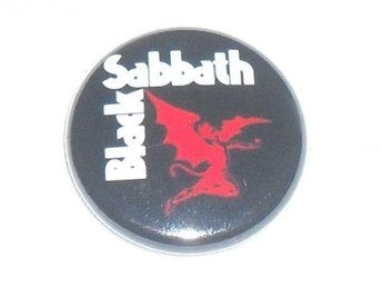 BLACK SABBATH - 3,5 cm, Badge / Pin / Knapp (Turn Up.., OZZY,)