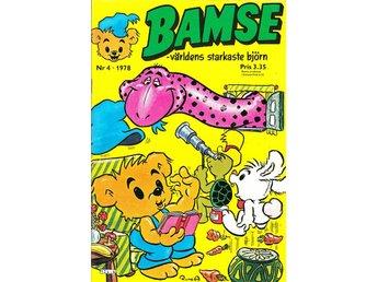 Bamse nr 4 1978 / VF / mycket snygg - Vallentuna - Bamse nr 4 1978 / VF / mycket snygg - Vallentuna