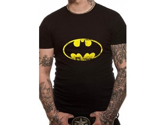 BATMAN - DISTRESSED LOGO (UNISEX) - Large