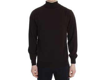 MILA SCHÖN - Brown Wool Turtleneck Pullover Sweater