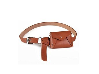 Javascript är inaktiverat. - Hubei - Women Waist Bag PU Leather Belt Pouch Travel Fanny Pack Small Purse Satchel NewMaterial: Faux leatherColor: BrownWaist belt: Adjustable, 70-86cmPackage: 1x Women Waist Bag Due to the dimensions are measured by hand, there may be 1-3cm deviations.I - Hubei