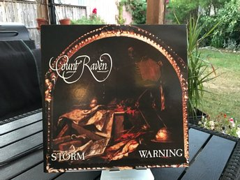 Count Raven - Storm Warning (LP) Första Pressen på Active Records