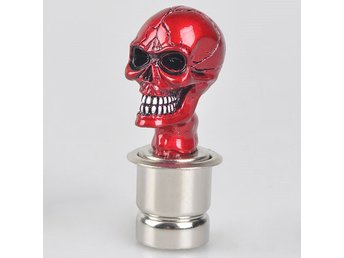 Red Skull & Crossbones Design Universal Car Cigarette Lighter
