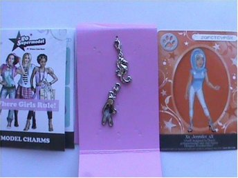 1 set Go Supermodel - Where girls rule! - Model charms - Nya