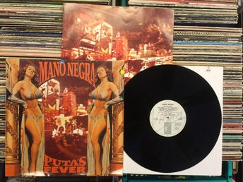 MANO NEGRA  RARE LP  PUTA'S FEVER  ( MANU CHAO ) VIRGIN FRANCE 1989