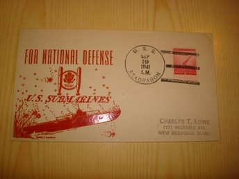 WWII For National Defence U.S. Submarines U.S.S. Seadragon 1941 FDC