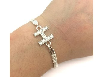 Jewelry Charm Fashion  Rhinestone Bracelet Plated Silver Letter H