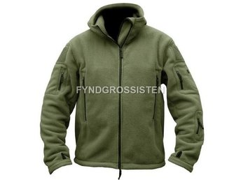 Fleecejacka Herr Military Outdoor Thermal Armégrön Strlk XL Fri Frakt Ny