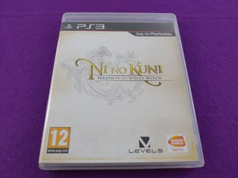 PS3 Ni No Kuni Wrath Of The White Witch Komplett Mycket Fint Skick