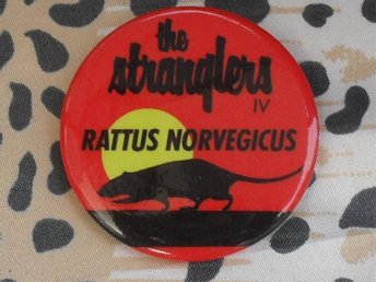 STRANGLERS - Stor Button-Badge / Pin / Knapp (Punk, 1977)
