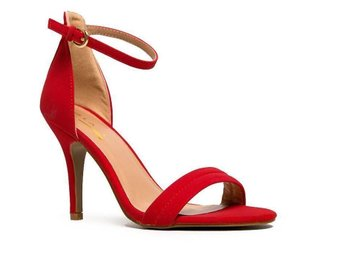 Glaze WILLOW Stiletto size 40 High Heel Ankle Strap Sandal red