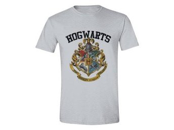 Harry Potter T-shirt Hogwarts Grå XL