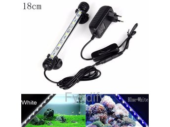Akvariebeslysning LED Vit EU Plug 18 CM Aquarium Fish Tank LED Light