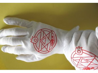 anime manga full metal alchemist cosplay handskar glove