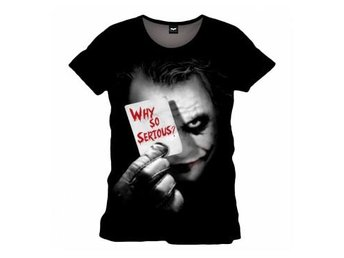Batman Dark Knight T-Shirt Joker Why So Serious XXL
