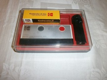 Kodak Pocket Instamatic 100 Camera i originalbox 1972 - 1976 Retro