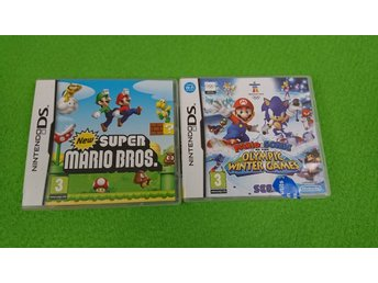 New Super Mario Bros & Mario & Sonic at the Olympic Winter Games Nintendo DS