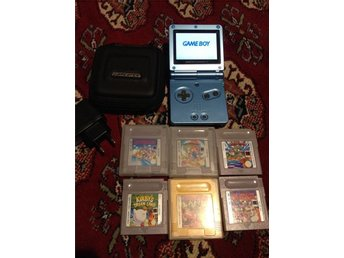 Game Boy Advance SP AGS 101 Backlit version+Super mario land 1+2+3 and 3 more