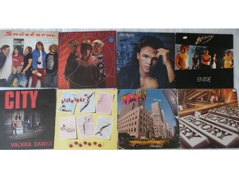 Paket med 8 lp -svensk pop-City,Snöstorm,Taxt,Beauty,Facory, Alien Beat