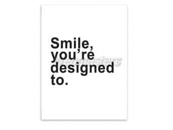 Smile A4 Canvas Affisch Poster Print
