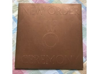 NEW ORDER SINGEL FACTORY RECORDS CEREMONY/IN A LONELY PLACE