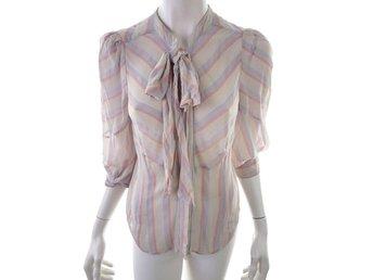 5abe75243959ab Warehouse 3 4 Sleeve Blouse Size 12 Creamy 100% Silk Print