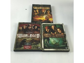 DVD VIDEO, DVD-Film, 3 st, Pirates of the caribbean