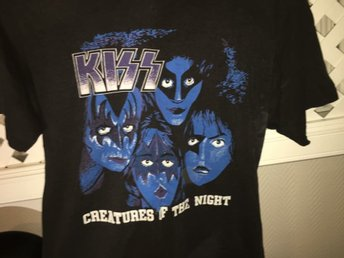 Kiss - Creatures of the Night tischa vintage 1984 utanför svandinavium slk L ish
