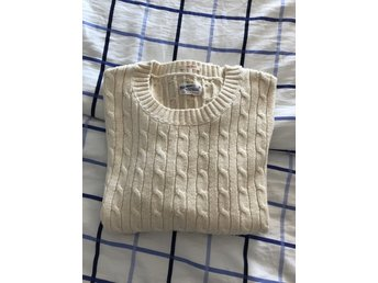 GANT Cotton cable pullover Cream, XL *HELT NY