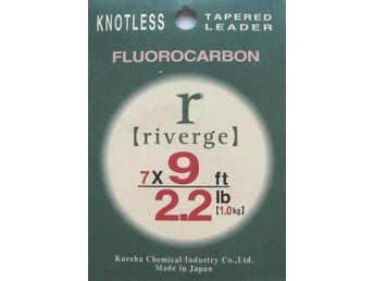 Riverge Fluorocarbon Taperade Tafsar 9ft 5x 0.16 mm (2,2kg)