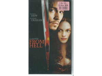 FROM HELL - JOHNNY DEPP  (SVENSKT-VHS FILM !!)