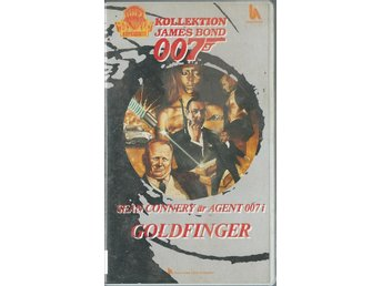 JAMES BOND 007 - GOLDFINGER   ( SVENSK VHS FILM !!)