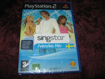 SINGSTAR SVENSKA HITS - PLAYSTATION 2 - NY INPLASTAD