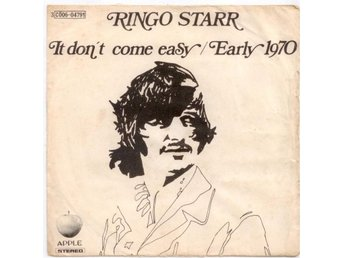 "RINGO STARR - It Don't Come Easy  7"" Singel  Italien Beatles"