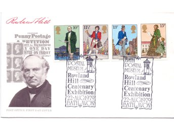 England, FDC 1979, Death of Rowland Hill